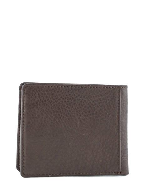 Porte-cartes Cuir Redskins Marron wallet BENITO vue secondaire 2