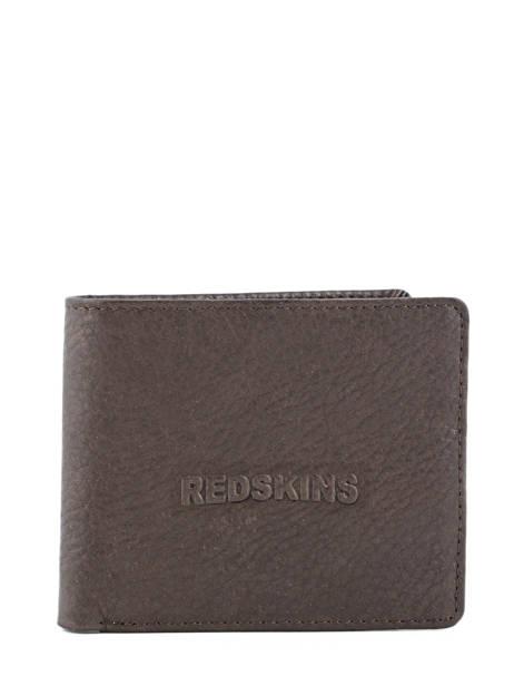 Porte-cartes Cuir Redskins Marron wallet BENITO