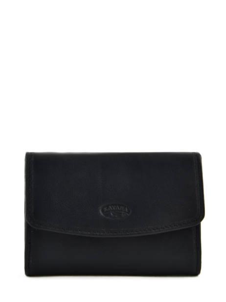 Purse Leather Katana Black daisy 553041