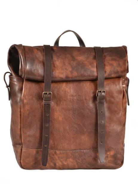 Backpack Chiarugi Brown street 54001