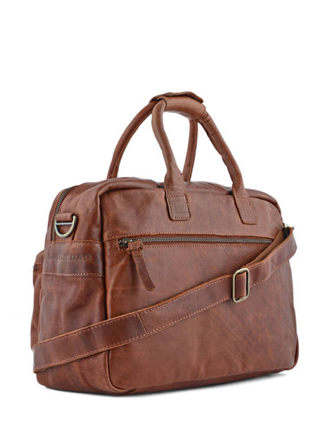 Porte-documents 1 Compartiment A4 Cowboysbag Marron vegetal 1030 vue secondaire 3