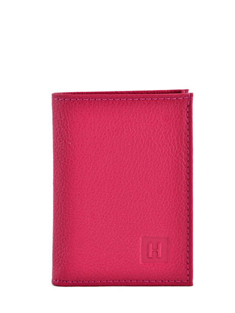 Card Holder Leather Hexagona Pink confort 461007