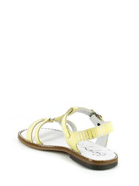 Sandales Bopy Jaune sandales / nu-pieds EDELYNE vue secondaire 3