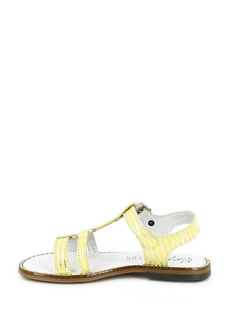 Sandales Bopy Jaune sandales / nu-pieds EDELYNE vue secondaire 2