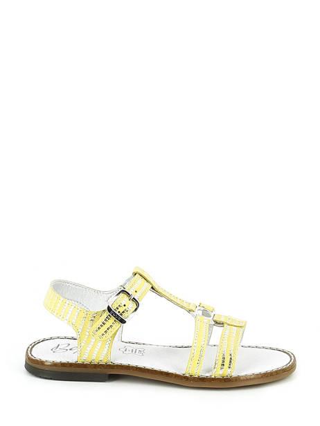 Sandales Bopy Jaune sandales / nu-pieds EDELYNE vue secondaire 1