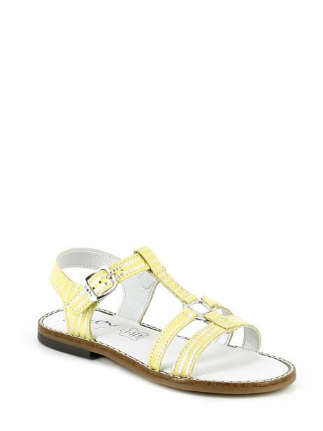 Sandales Bopy Jaune sandales / nu-pieds EDELYNE