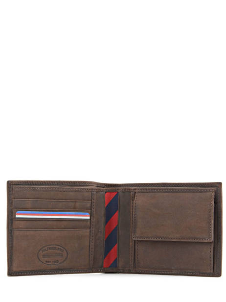 Wallet Leather Tommy hilfiger Brown johnson AM00659 other view 2