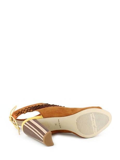 Sandales Mellow yellow Marron sandales / nu-pieds BRAVO vue secondaire 5