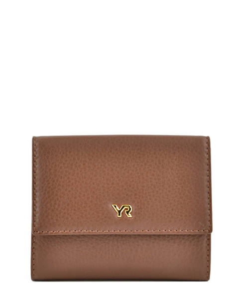 Wallet Leather Yves renard Brown 29882