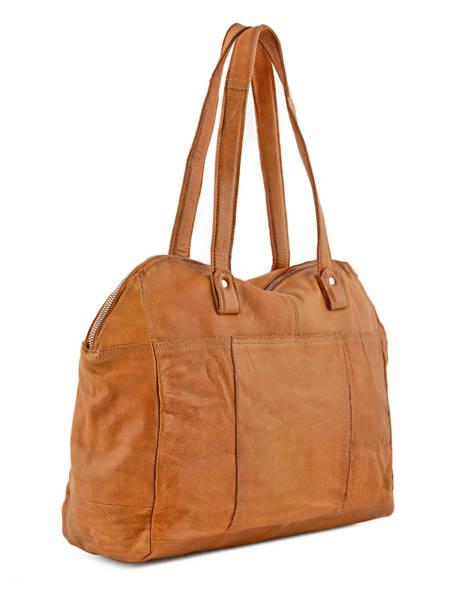Sac Shopping Monica Cuir Pieces Marron monica 17080825 vue secondaire 3