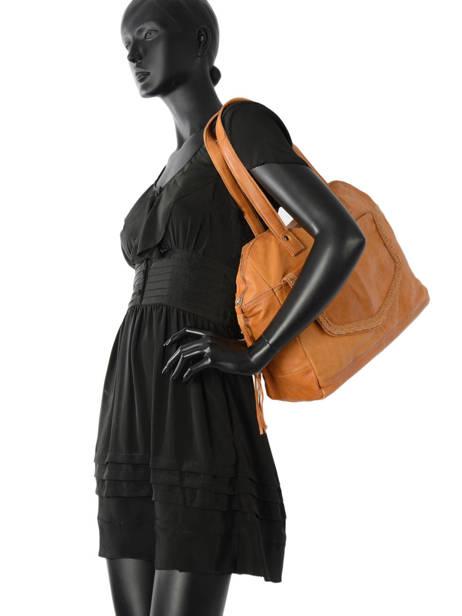 Sac Shopping Monica Cuir Pieces Marron monica 17080825 vue secondaire 2