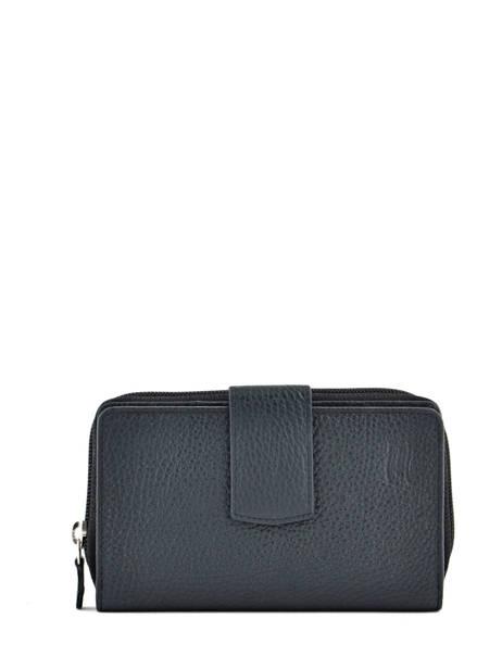 Wallet Leather Crinkles Black 14064