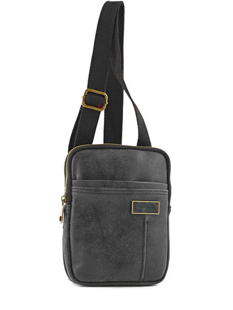 Crossbody Bag Serge blanco Black meetic goal MEG13010