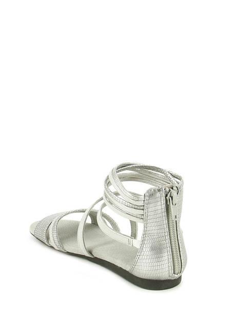 Sandales Bull boxer Argent sandales / nu-pieds aed031 vue secondaire 3