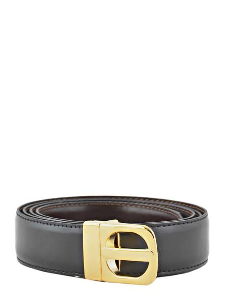 Belt Petit prix cuir Black classic 003
