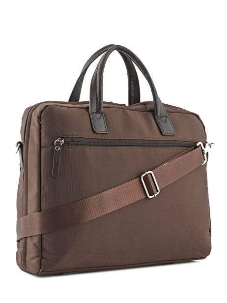Briefcase 2 Compartments + 15'' Pc Etrier Brown ultra light LN11064 other view 3