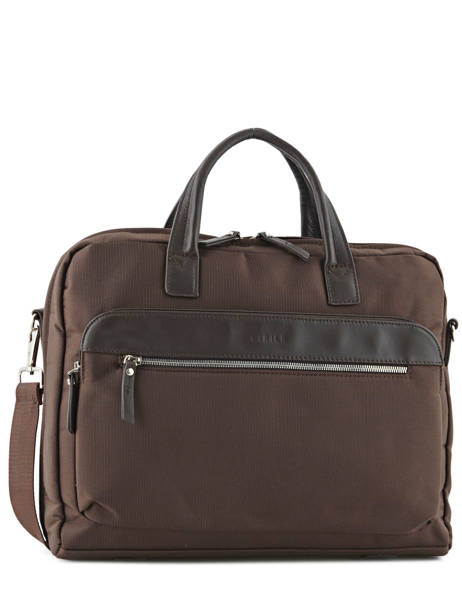 Briefcase 2 Compartments + 15'' Pc Etrier Brown ultra light LN11064