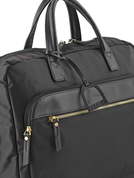 Briefcase 2 Compartments + 15'' Pc Etrier Black plum PL11064 other view 1