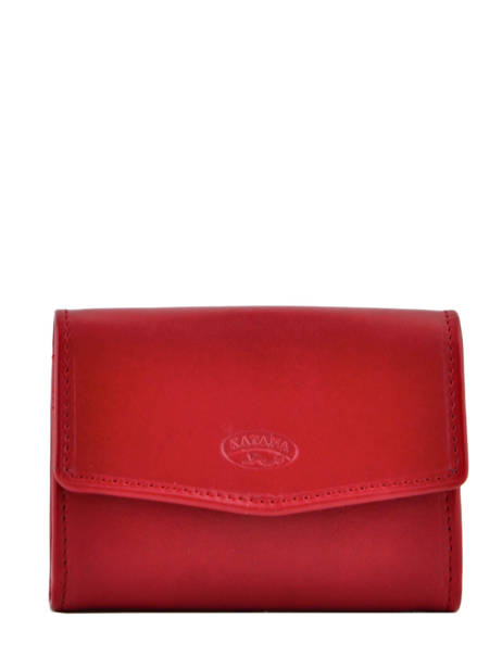 Purse Leather Katana Red daisy 553058