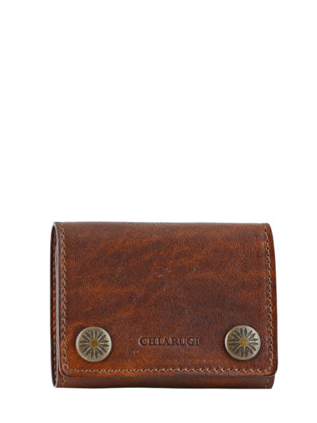 Wallet Leather Chiarugi Brown street 51098