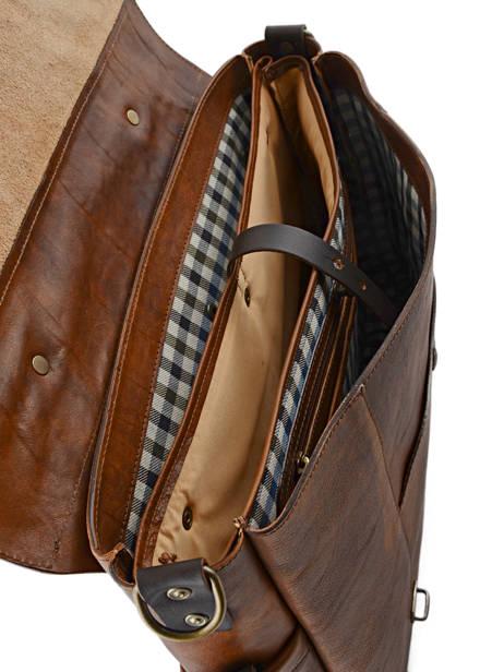 Briefcase 17'' Laptop Chiarugi Brown work 54007 other view 4