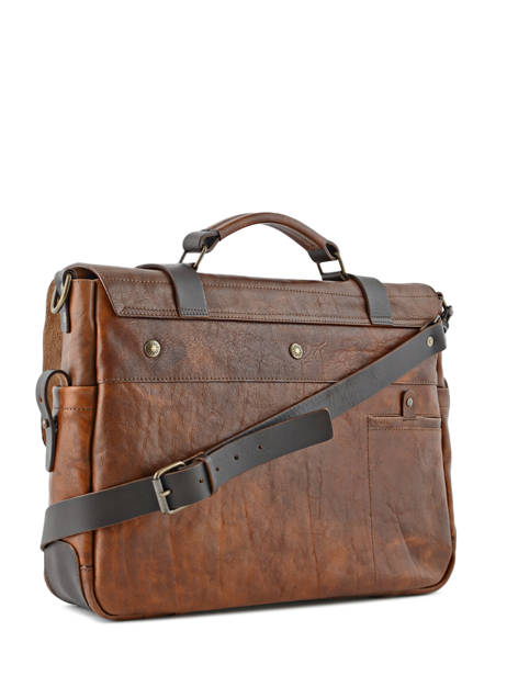 Briefcase 17'' Laptop Chiarugi Brown work 54007 other view 3