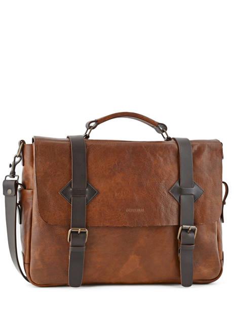 Briefcase 17'' Laptop Chiarugi Brown work 54007