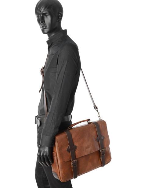 Briefcase 17'' Laptop Chiarugi Brown work 54007 other view 1