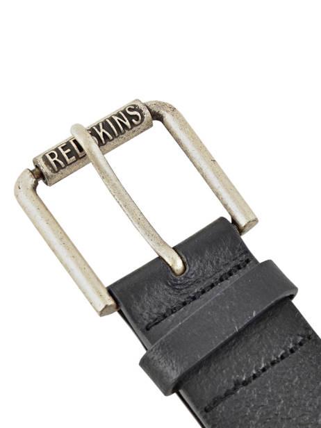 Leather Men's Belt Redskins Black belt 15982 other view 1