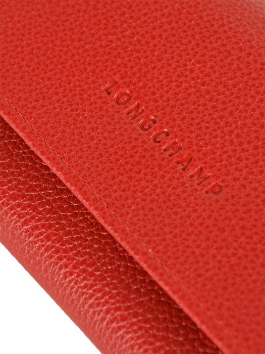 Longchamp Wallet Red