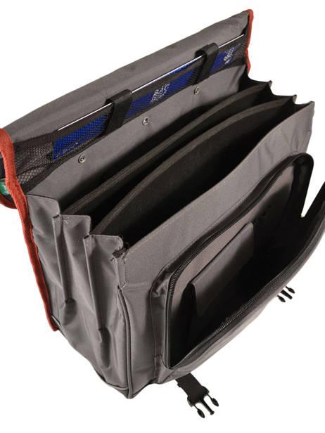 Cartable à Roulettes 3 Compartiments Cameleon Gris new basic NBACA41R vue secondaire 6
