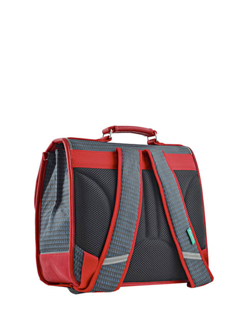 Cartable 2 Compartiments Cameleon Rouge retro RET-CA35 vue secondaire 4