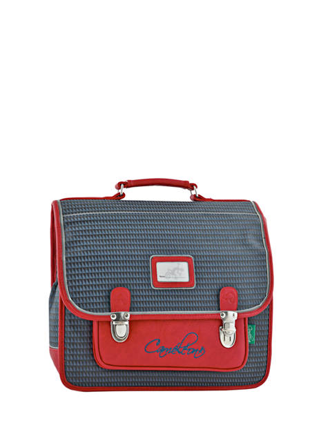 Cartable 2 Compartiments Cameleon Rouge retro RET-CA35