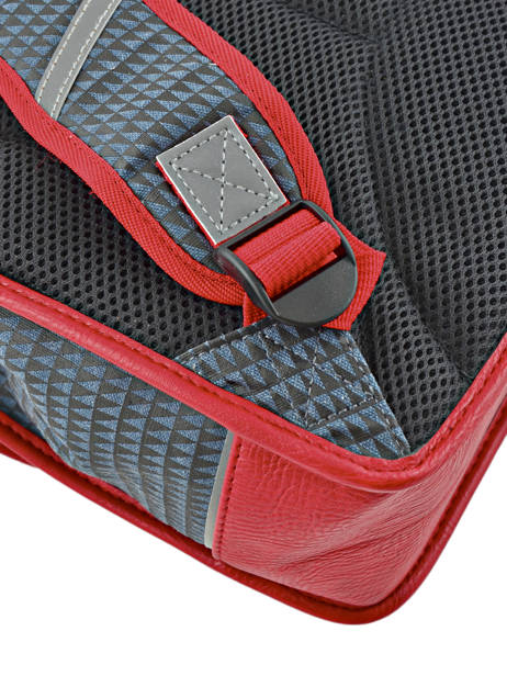 Cartable 2 Compartiments Cameleon Rouge retro RET-CA35 vue secondaire 1