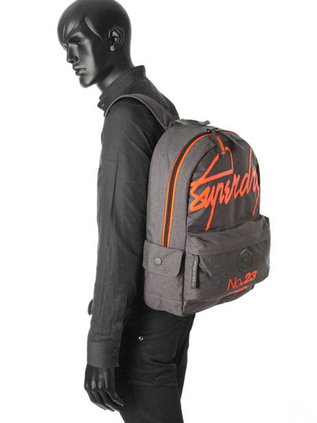 Sac à Dos 1 Compartiment Superdry Gris backpack men M91001DP vue secondaire 2