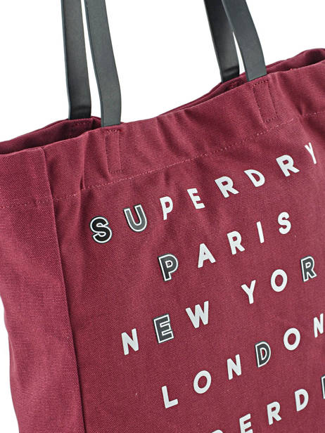 Sac Cabas A4 Women Bags Superdry Violet women bags G91001OP vue secondaire 1