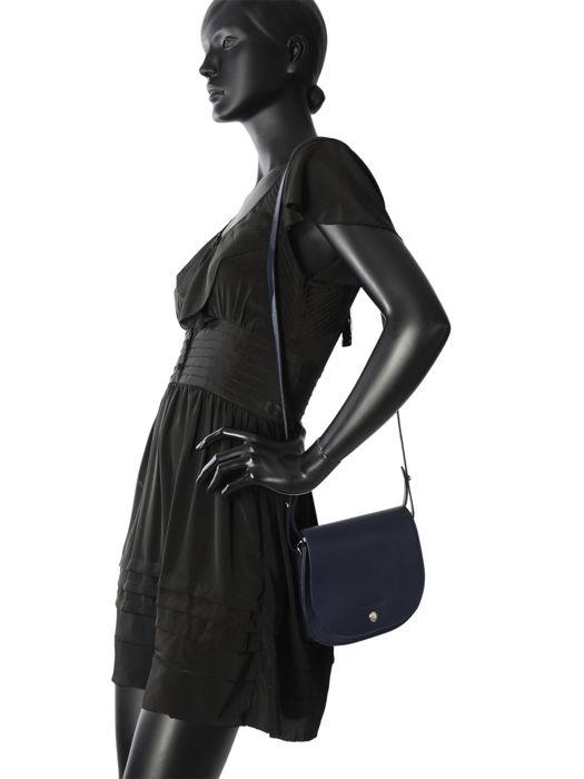 Longchamp Le foulonné Sacs porté travers Bleu