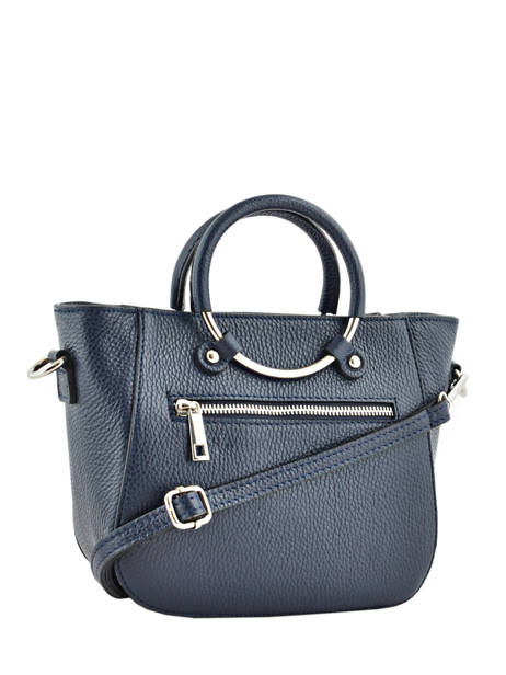 Shopping Bag  Leather Milano Blue CA17061 other view 2