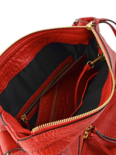 Sac Besace Midday Bubble Cuir Gerard darel Rouge bubble DFS02403 vue secondaire 4