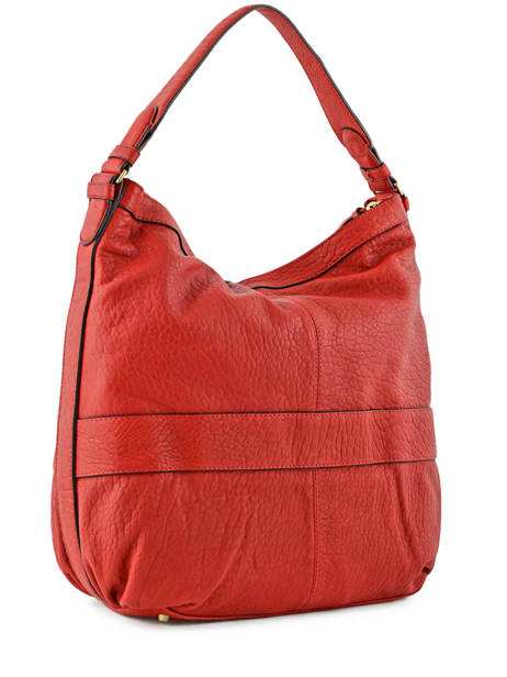 Sac Besace Midday Bubble Cuir Gerard darel Rouge bubble DFS02403 vue secondaire 3