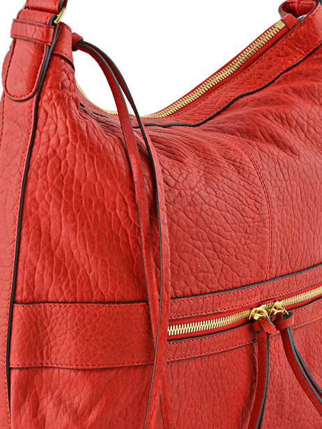 Sac Besace Midday Bubble Cuir Gerard darel Rouge bubble DFS02403 vue secondaire 1