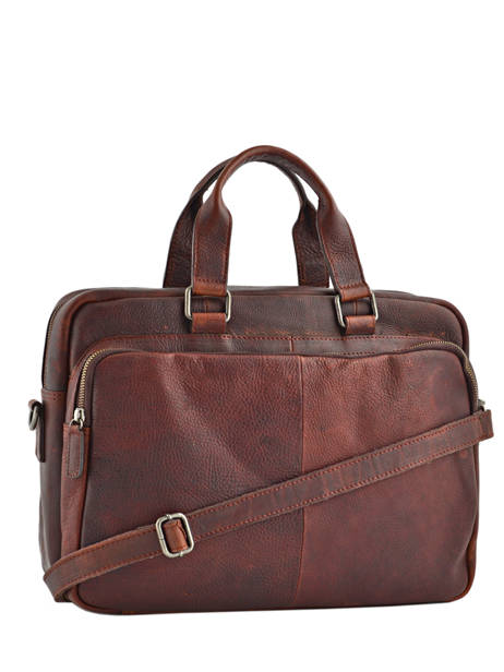 Briefcase 15'' Laptop Burkely Brown antique avery 521856 other view 3