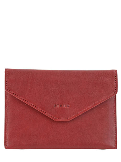 Wallet Leather Etrier Red blanco 600054