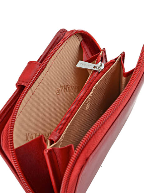 Wallet Leather Katana Red daisy 553052 other view 2