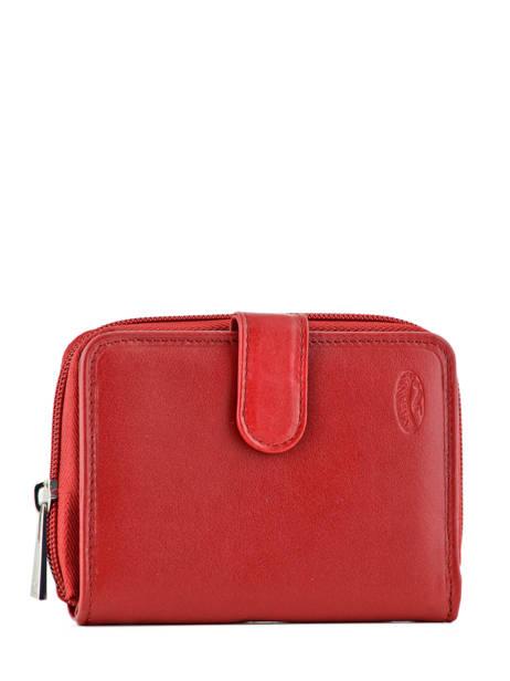 Wallet Leather Katana Red daisy 553052