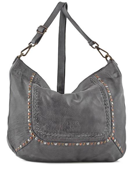 Shoulder Bag Studs Leather Basilic pepper Gray studs BSTU02
