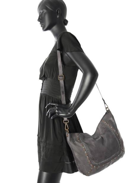 Shoulder Bag Studs Leather Basilic pepper Gray studs BSTU02 other view 1