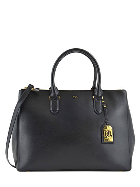 Sac Porte Main A4 New Bury Cuir Lauren ralph lauren Noir new bury 31186080
