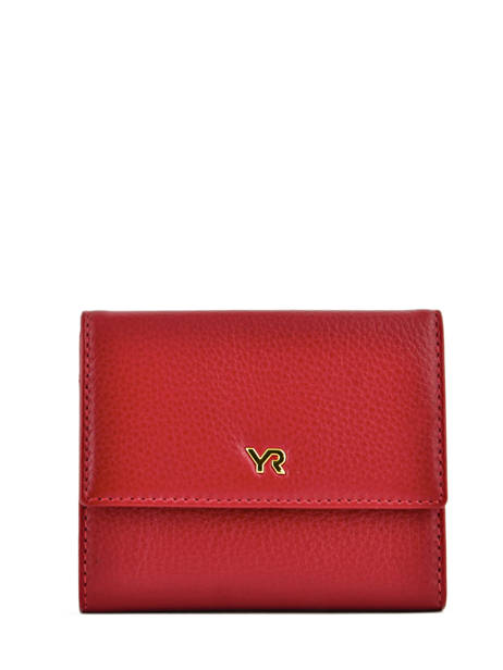 Portefeuille Cuir Yves renard Rouge foulonne 29882