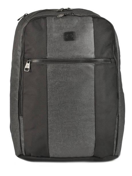 Backpack 2 Compartments + 15'' Pc Serge blanco Black new urban NRB41024